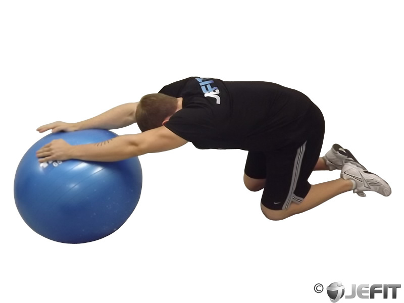 Child's Pose on Exercise Ball