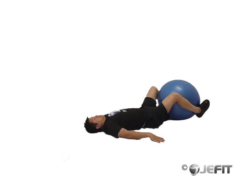 Roll Over on Exercise Ball