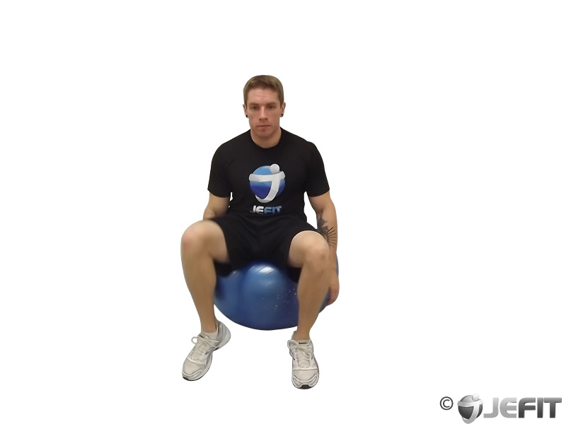 Half Moon Stretch on Exercise Ball