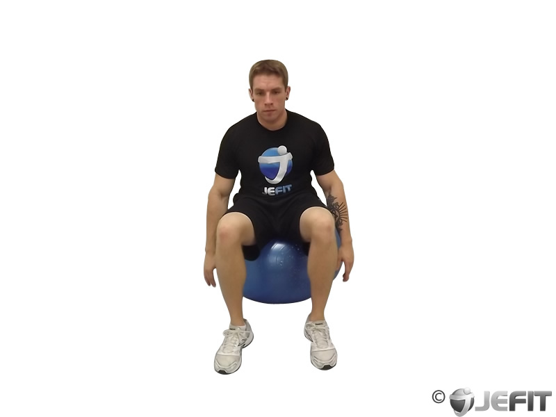 Seated Hamstring Stretch on Exercise Ball