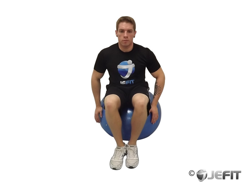 Exercise Ball Seated Head Tilt