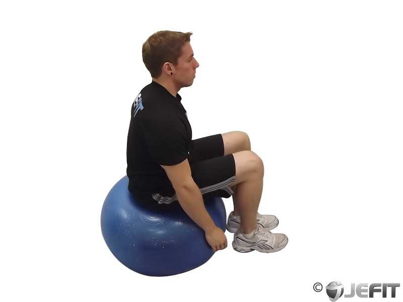 Exercise Ball Seated Neck Flexor Stretch