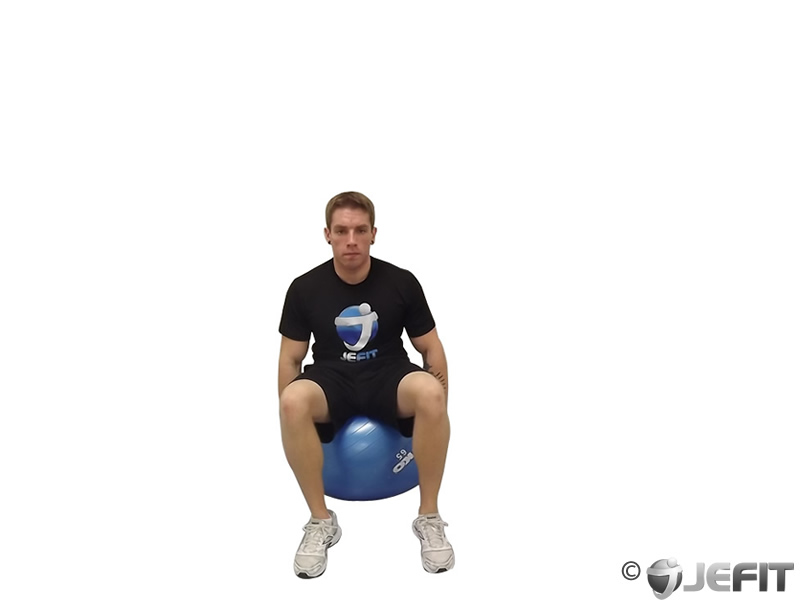 Exercise Ball Seated Side Bend