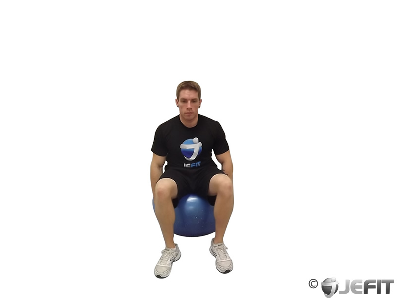 Exercise Ball Side Stretch