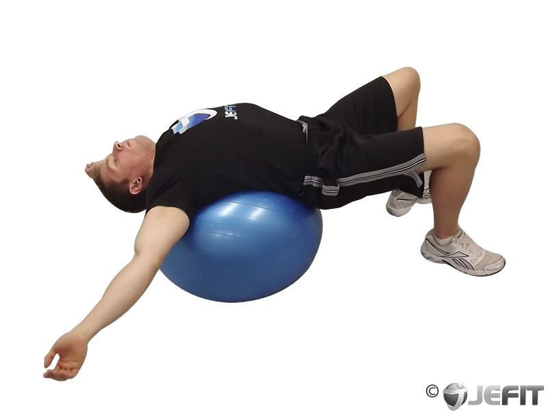 Exercise Ball Back Stretch