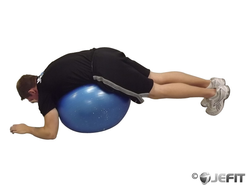 Exercise Ball Lower Back Stretch
