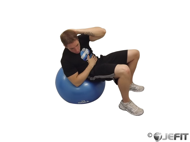 Exercise Ball Oblique Curl