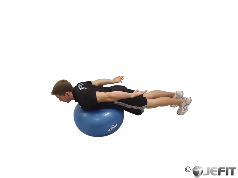 Exercise Ball Back Extension With Rotation