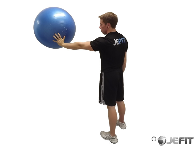 Exercise Ball Back Wall Circles