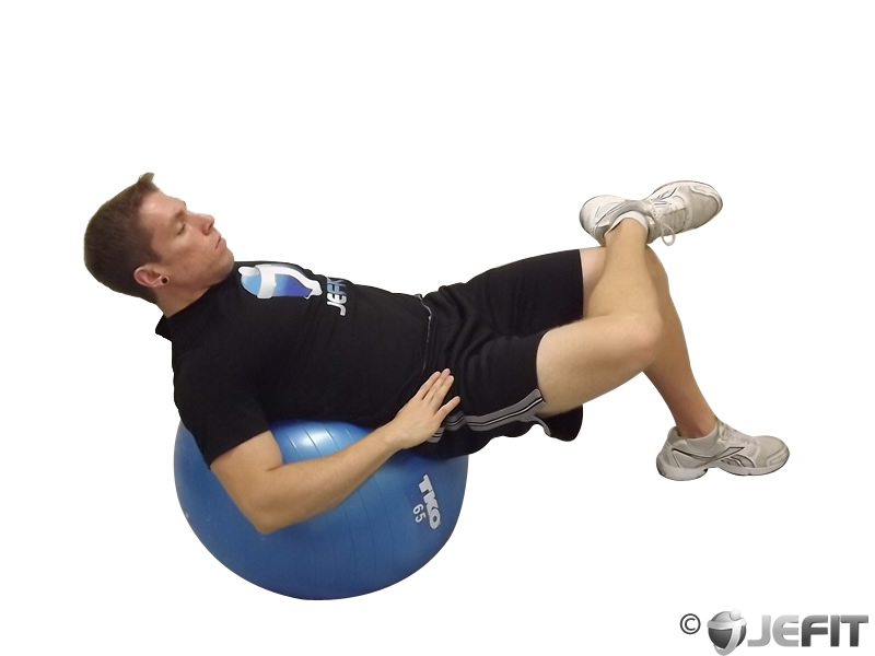 Exercise Ball Cross Legged Bridge