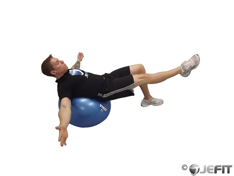 Exercise Ball One Legged Bridge