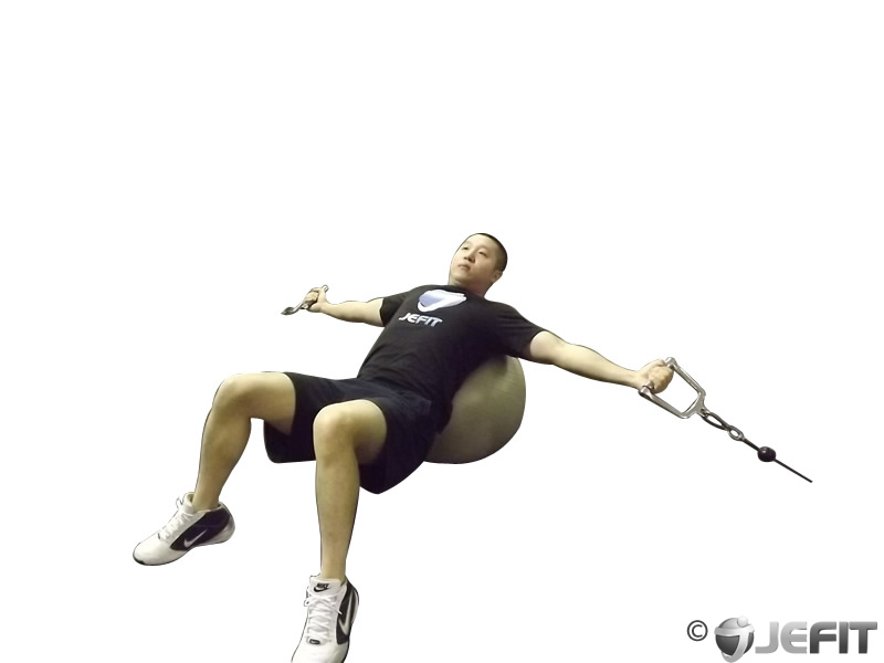 Cable Fly on Exercise Ball
