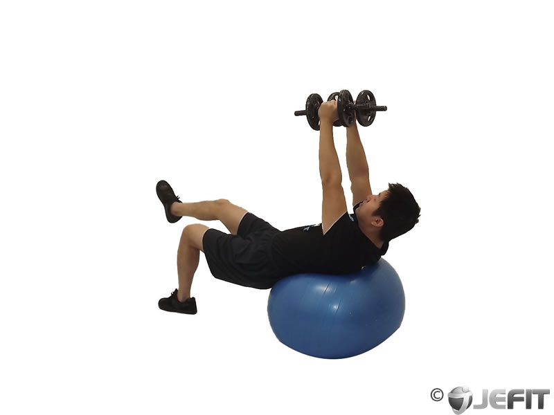 Dumbbell One Leg Fly on Exercise Ball