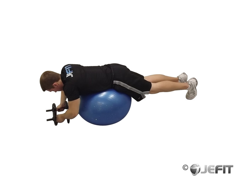 Dumbbell Cobra Prone on Exercise Ball