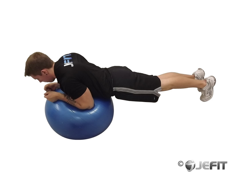 Exercise Ball Plank With Side Kick