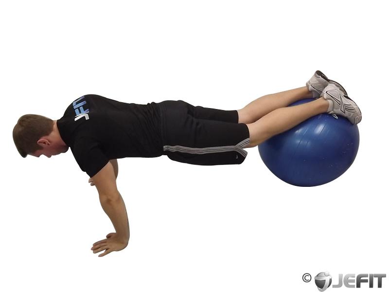 Exercise Ball Jack Knife Push Up Exercise Database