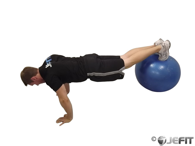 Exercise Ball Pike Pushup