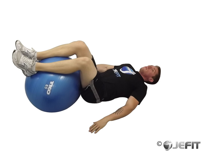 Exercise Ball Reverse Trunk Curl