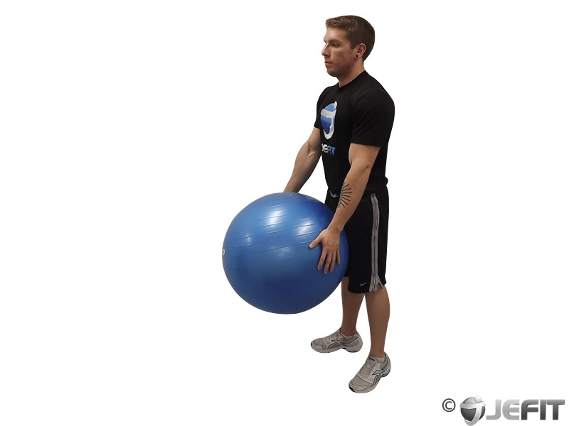 Stork Stance with Exercise Ball