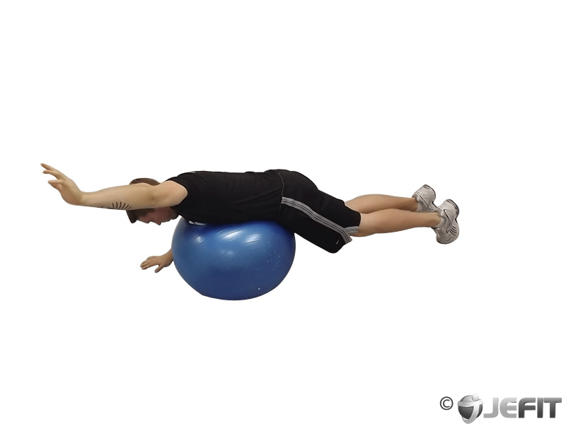 Exercise Ball Alternating Arm Ups