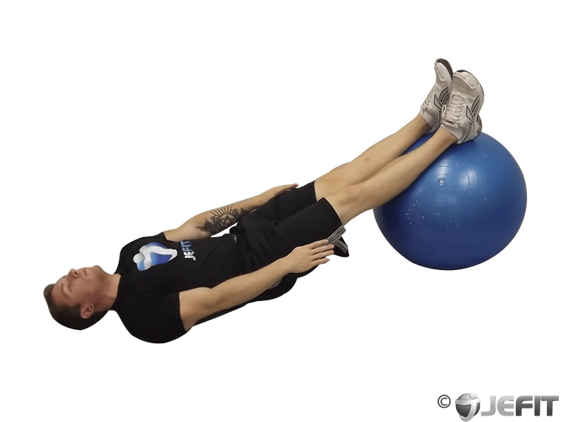 Exercise Ball Straight Legged Crunch