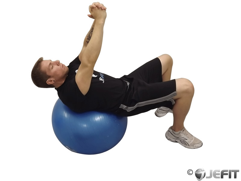 Exercise Ball Roman Twist