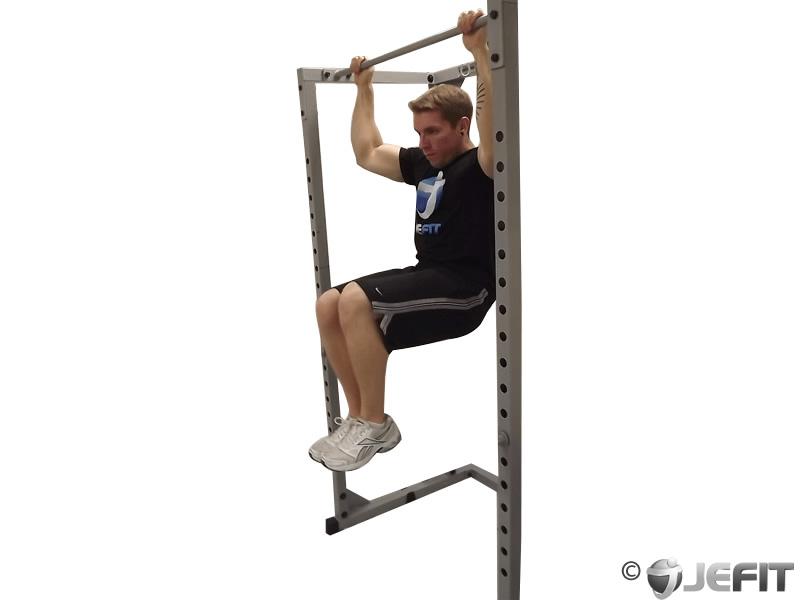hanging rotated knee raise