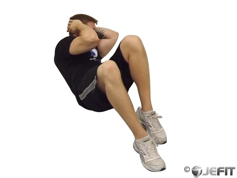 cross body crunch - exercise database