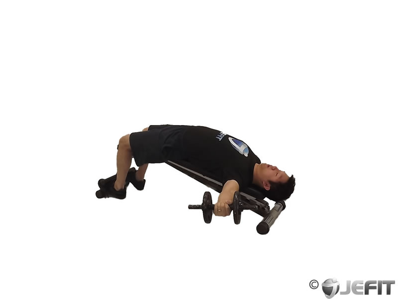 Dumbbell Decline One Arm Fly