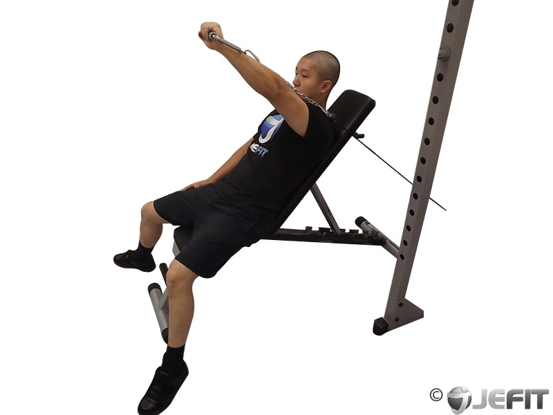 Cable One Arm Incline Press Exercise Database Jefit