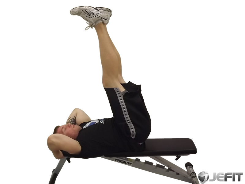 Lying Leg Raises Exercise Images & Pictures - Becuo