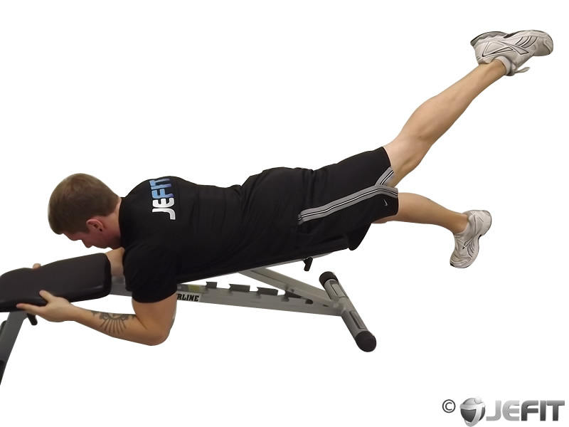 Superb Alternate Leg Reverse Hyper On Flat Bench Exercise Gmtry Best Dining Table And Chair Ideas Images Gmtryco