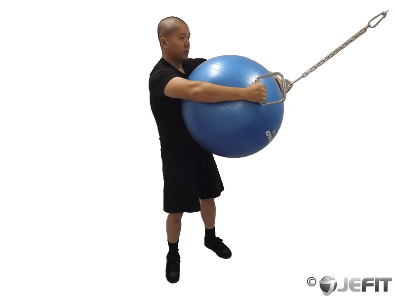 Cable Rotation on Exercise Ball