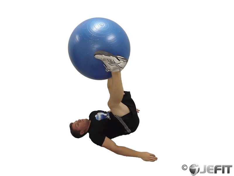 Exercise Ball Leg Lifts