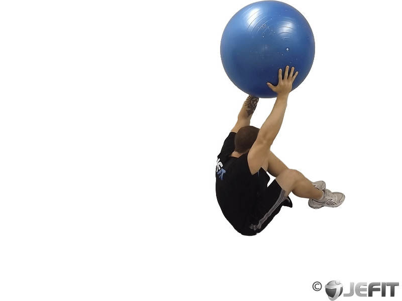 Exercise Ball Roll Down