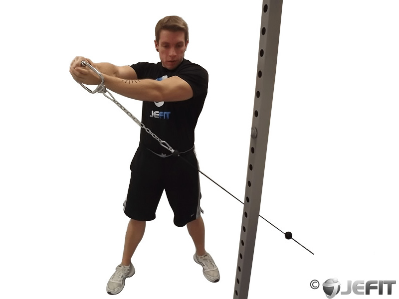 Wood Chop Exercise Cable Reverse W...