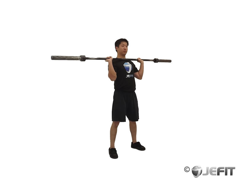 Barbell Squat to Shoulder Press