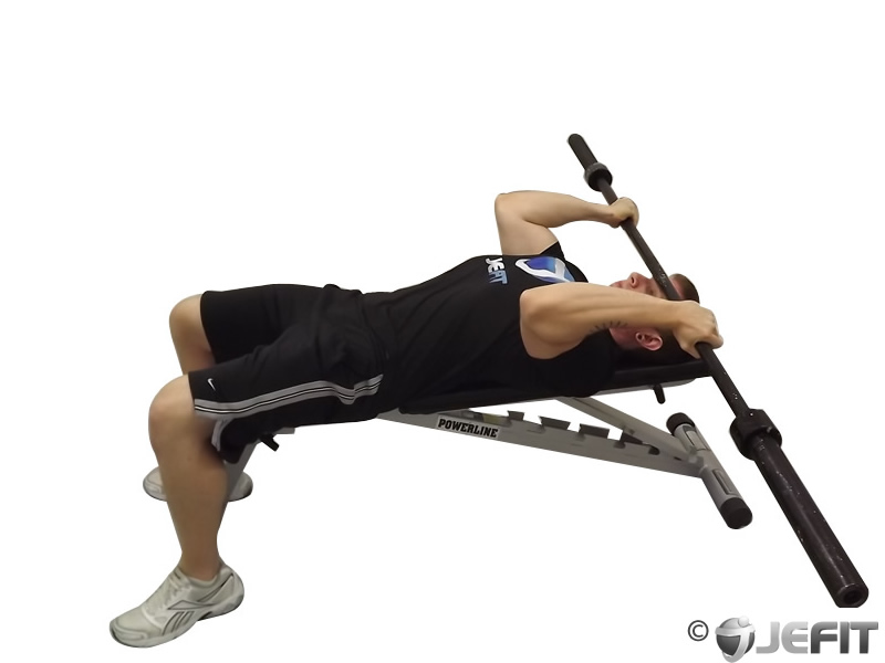 Barbell Reverse Grip Triceps Extension Exercise Database