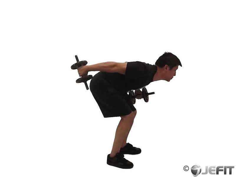 Dumbbell Alternate Bent Over Kickback