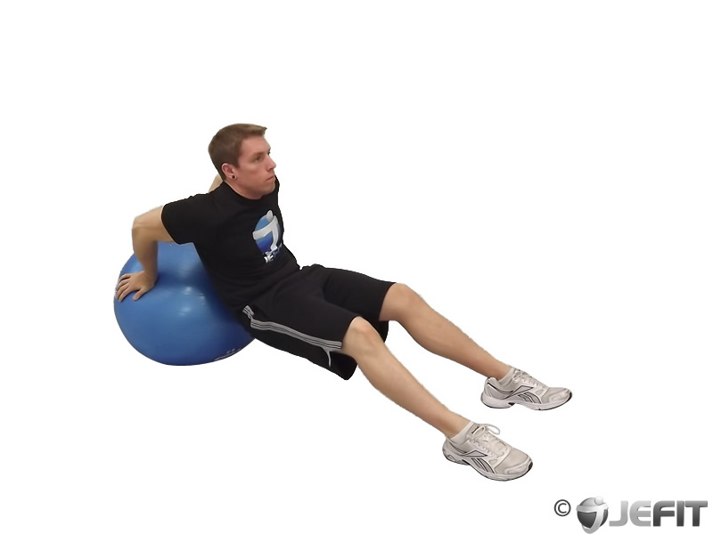 Exercise Ball Tricep Dip