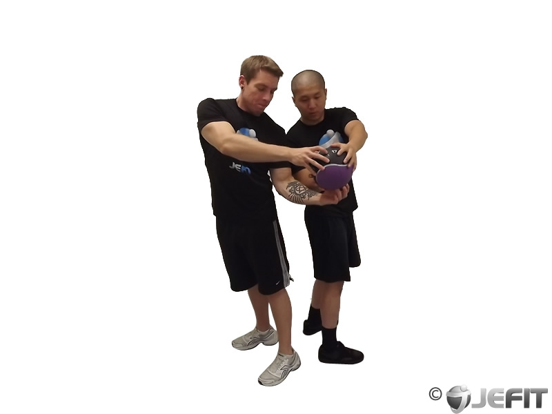 Medicine Ball Full Twist Exercise Database Jefit Best Android And Iphone Workout