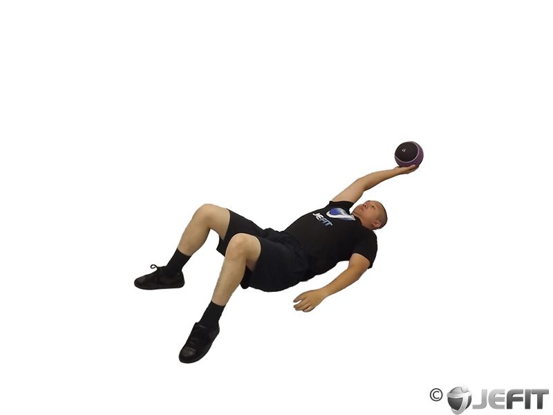 Medicine Ball Supine One Arm Overhead Throw