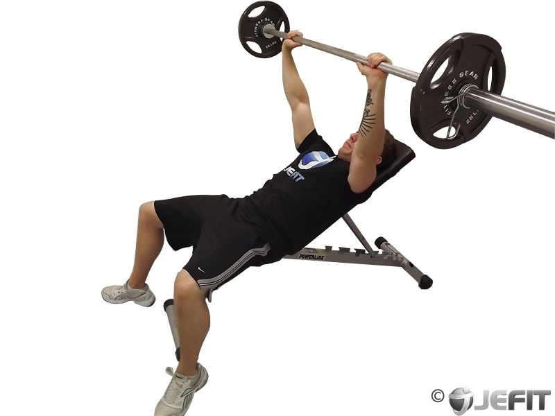 barbell incline bench press   exercise database jefit   best android