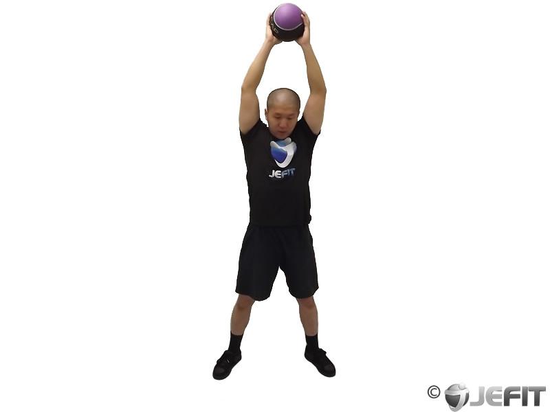 Medicine Ball Overhead Slam - Exercise Database   Jefit