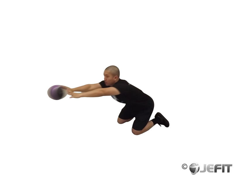 Medicine Ball Chest Push Multiple Response Exercise