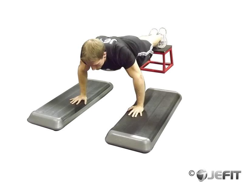 Incline Push Up Depth Jump Exercise Database Jefit