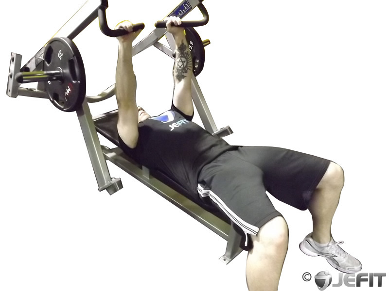leverage chest press - exercise database
