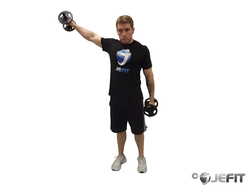 Dumbbell Alternating Deltoid Raise