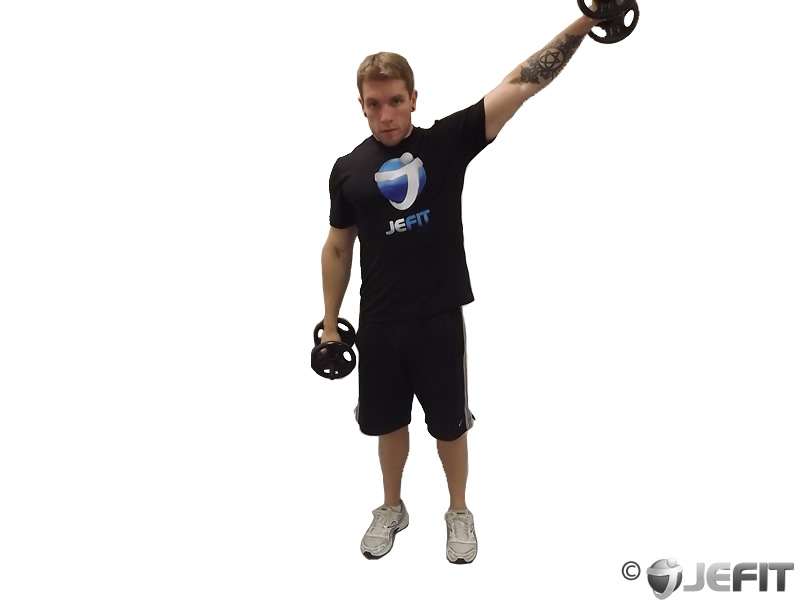Dumbbell Alternate Lateral Raise