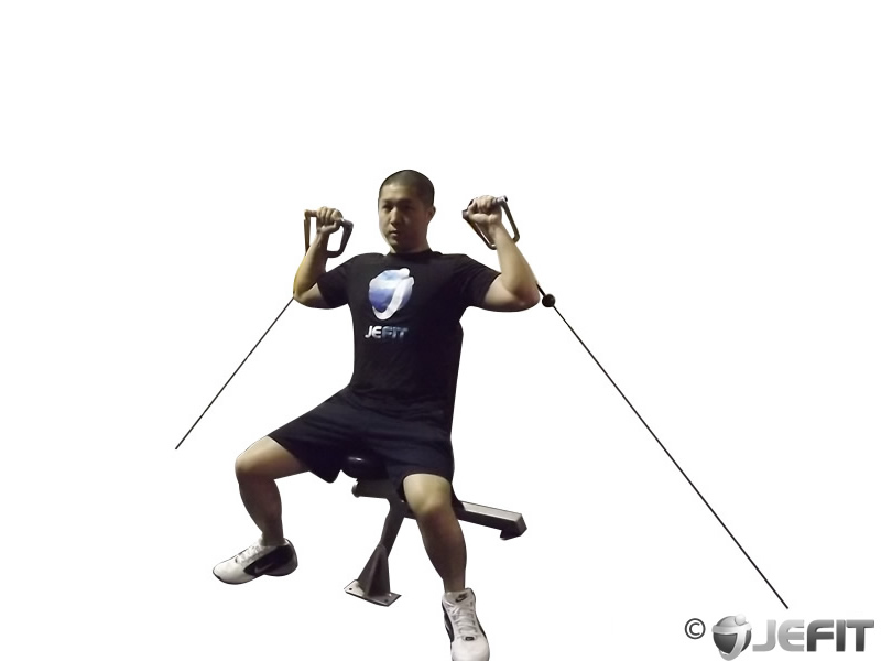 Cable Seated Shoulder Press